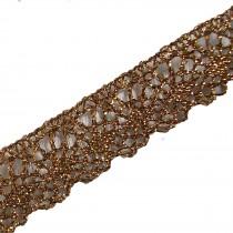 Lurex Lace Trim 2cm Wide Gold 1 metre length