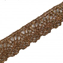 Lurex Lace Trim 2cm Wide Gold 3 metre length