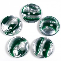 Marble Stripe Humbug Candy Look Buttons 13mm Green Pack of 5