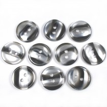 Marble Stripe Humbug Candy Look Buttons 15mm Grey Pack of 10
