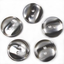 Marble Stripe Humbug Candy Look Buttons 15mm Grey Pack of 5