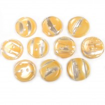 Marble Stripe Humbug Candy Look Buttons 15mm Orange Pack of 10