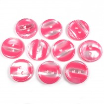 Marble Stripe Humbug Candy Look Buttons 13mm Pink Pack of 10