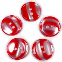 Marble Stripe Humbug Candy Look Buttons 13mm Red Pack of 5