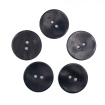 Metal Round Circle Buttons 34mm Black Pack of 5