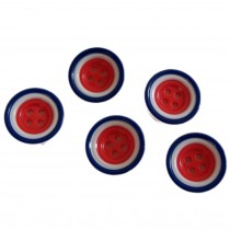 Mod Target Style Round Plastic Buttons 15mm Pack of 5