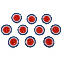 Mod Target Style Round Plastic Buttons 11mm Pack of 10
