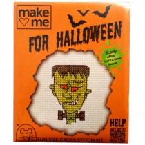 Mouseloft Mini Counted Cross Stitch Kits - Halloween Frankenstein's Monster