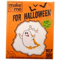 Mouseloft Mini Counted Cross Stitch Kits - Halloween Ghost