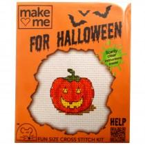 Mouseloft Mini Counted Cross Stitch Kits - Halloween Pumpkin