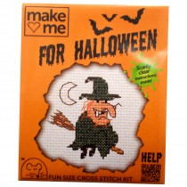 Mouseloft Mini Counted Cross Stitch Kits - Halloween Witch
