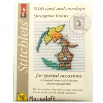 Mouseloft Mini Counted Cross Stitch Kits - Easter Card Bunny