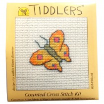 Mouseloft Mini Counted Cross Stitch Kits - Tiddlers Butterfly