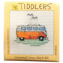 Mouseloft Mini Counted Cross Stitch Kits - Tiddlers Camper Van