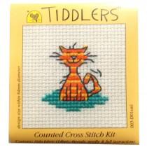 Mouseloft Mini Counted Cross Stitch Kits - Tiddlers Cat