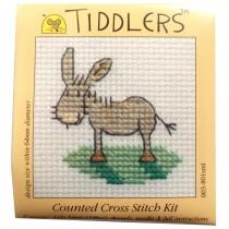 Mouseloft Mini Counted Cross Stitch Kits - Tiddlers Donkey