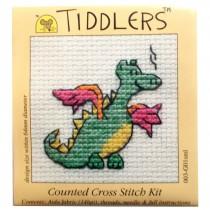 Mouseloft Mini Counted Cross Stitch Kits - Tiddlers Dragon