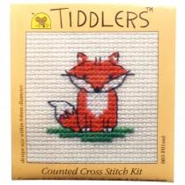 Mouseloft Mini Counted Cross Stitch Kits - Tiddlers Fox