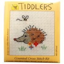 Mouseloft Mini Counted Cross Stitch Kits - Tiddlers Hedgehog
