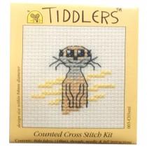Mouseloft Mini Counted Cross Stitch Kits - Tiddlers Meerkat
