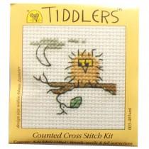 Mouseloft Mini Counted Cross Stitch Kits - Tiddlers Owl