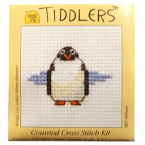 Mouseloft Mini Counted Cross Stitch Kits - Tiddlers Penguin