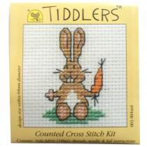Mouseloft Mini Counted Cross Stitch Kits - Tiddlers Rabbit