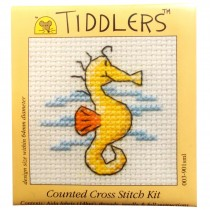 Mouseloft Mini Counted Cross Stitch Kits - Tiddlers Seahorse