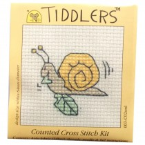 Mouseloft Mini Counted Cross Stitch Kits - Tiddlers Snail