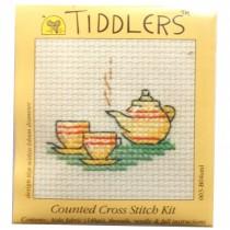 Mouseloft Mini Counted Cross Stitch Kits - Tiddlers Tea