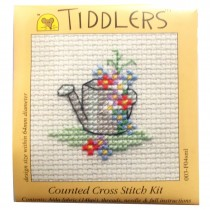 Mouseloft Mini Counted Cross Stitch Kits - Tiddlers Watering Can