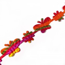 Multi Colour Trim Multi Colour Butterfly 15mm 1m length