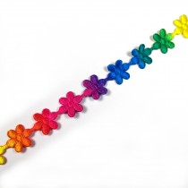 Multi Colour Trim Multi Colour Small Flower 12mm 3m length