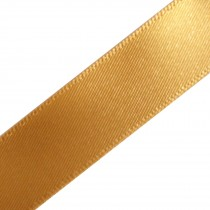 Berisfords Newlife Recycled Satin Ribbon 15mm wide Gold 3 metre length