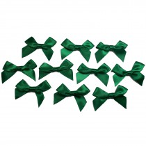 Satin Ribbon Bows approx 5.5cm wide Dark Green Pack of 10