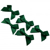 Satin Ribbon Bows approx 5.5cm wide Dark Green Pack of 5