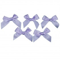 Satin Ribbon Bows approx 5.5cm wide Lilac Pack of 5