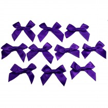 Satin Ribbon Bows approx 5.5cm wide Purple Pack of 10