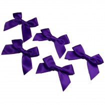 Satin Ribbon Bows approx 5.5cm wide Purple Pack of 5