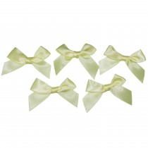 Satin Ribbon Bows approx 5.5cm wide Yellow Pack of 5