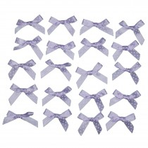 Satin Polka Dot Spot Ribbon Bows 4cm Lilac Pack of 20