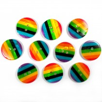 Rainbow Shell Buttons 17mm Pack of 10
