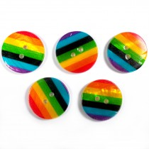 Rainbow Shell Buttons 17mm Pack of 5