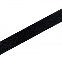 Berisfords Seam Binding Polyester Ribbon Tape 25mm wide Black 1 metre length