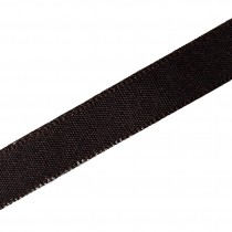 Berisfords Seam Binding Polyester Ribbon Tape 25mm wide Brown 1 metre length