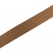 Berisfords Seam Binding Polyester Ribbon Tape 25mm wide Dark Beige 2 metre length