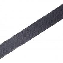 Berisfords Seam Binding Polyester Ribbon Tape 25mm wide Dark Grey 2 metre length