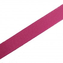 Berisfords Seam Binding Polyester Ribbon Tape 25mm wide Hot Pink 1 metre length