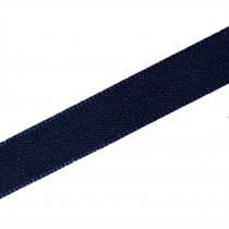 Berisfords Seam Binding Polyester Ribbon Tape 25mm wide Navy Blue 1 metre length