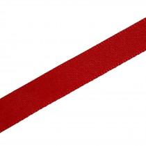 Berisfords Seam Binding Polyester Ribbon Tape 25mm wide Red 1 metre length